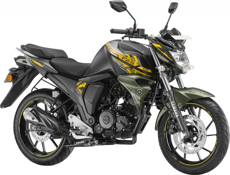 Yamaha FZS FI rear disc MATT GREEN colour variant