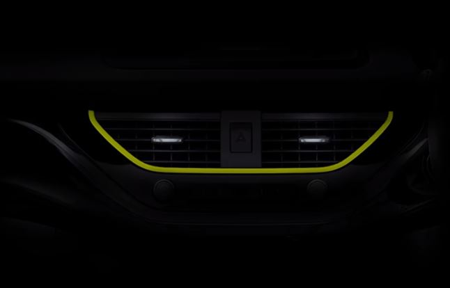 Tata Nexon Neon Green Dash Teased