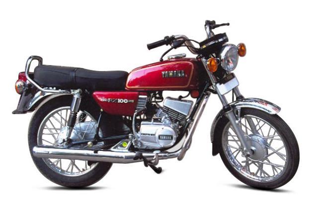 Yamaha Rx100 Side Profile Press Image