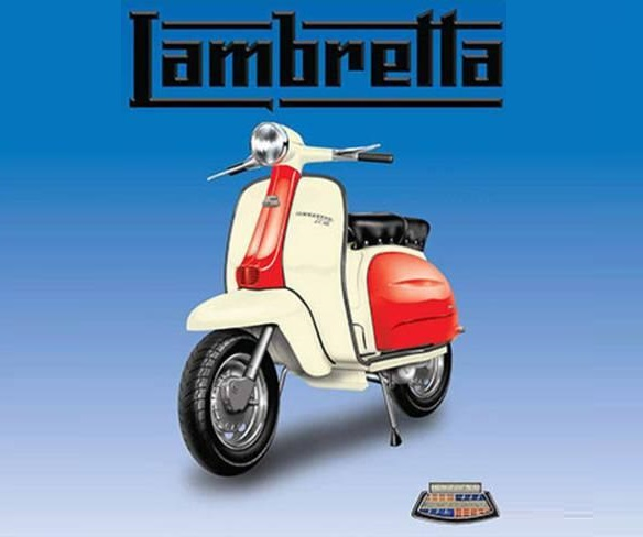 Lambretta Red And White