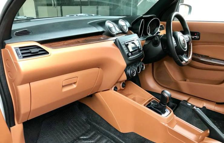 This modified Maruti Swift AMT has a really classy interior