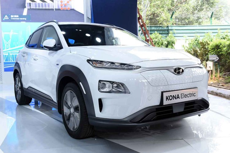 Hyundai Kona Ev At 2018 Move Summit In New Delhi F