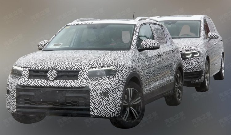 Vw T Cross Front Three Quarters Spy Shot China