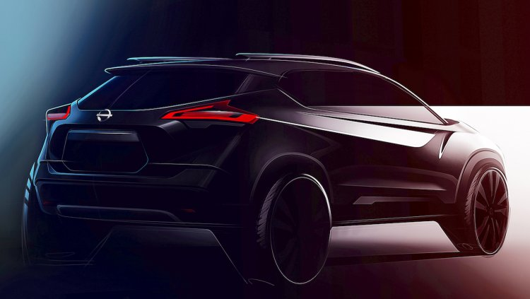 Indian Spec Nissan Kicks Rear Three Quarters Tease