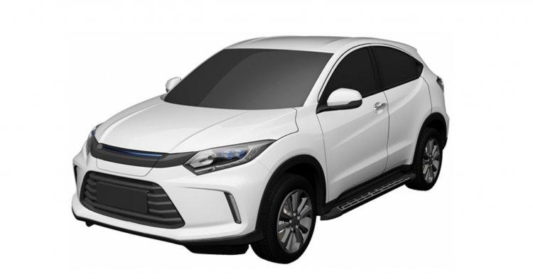 Honda Hr V Based Ev Front Three Quarters Patent Im