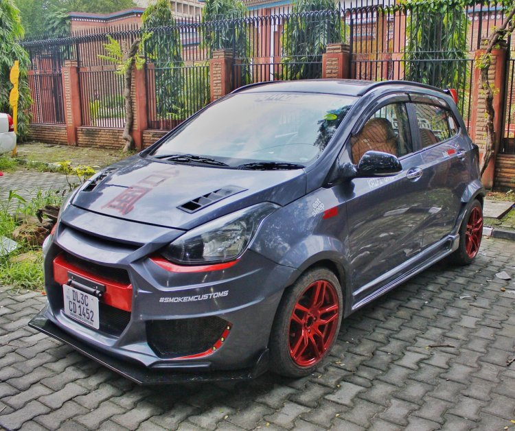 Modified Hyundai Grand I10 Typhoon Front Three Quar