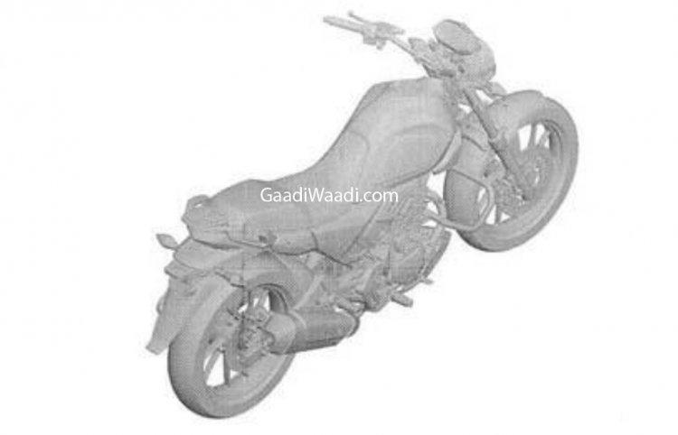 New Hero Motocorp 200cc Motorcycle Patent Image