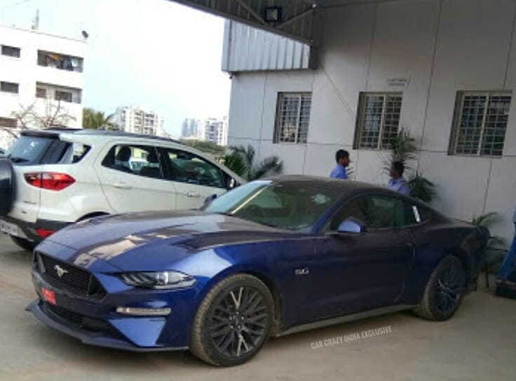 Facelifted Ford Mustang Front Three Quarters Spy S