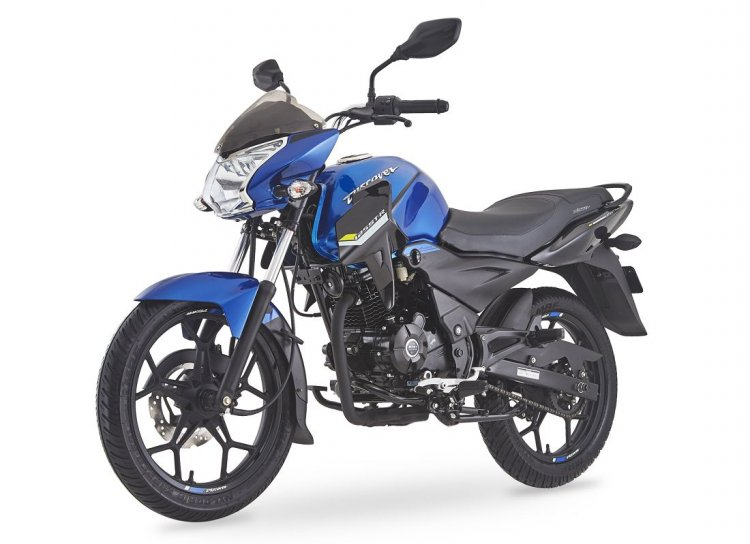 Bajaj Discover 125 St R Front Three Quarter Left