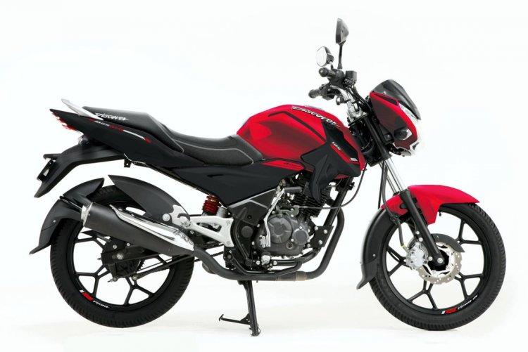 Bajaj Discover 125 ST-R Red Side Profile