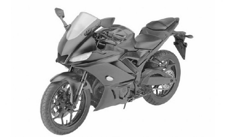 2019 Yamaha YZF-R3 Patent Images Front Three Quarter