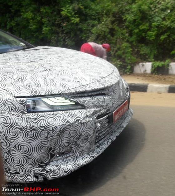 2019 Toyota Camry Front Fascia Spy Shot India