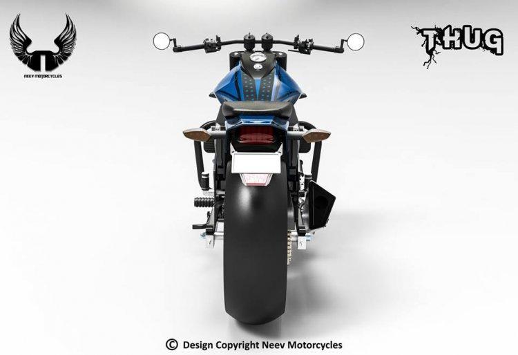Royal Enfield Thug By Neev Motorcycles Rear