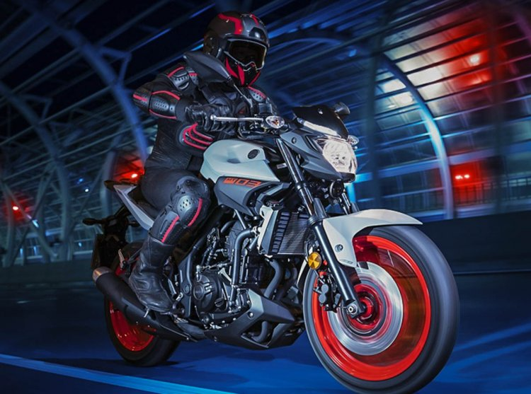 Yamaha MT 03 2019 Ice Fluo Front Right Quarter