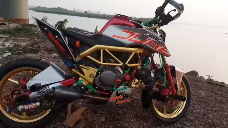 Bajaj Pulsar 220 To Ktm 390 Duke Modified Side Pro