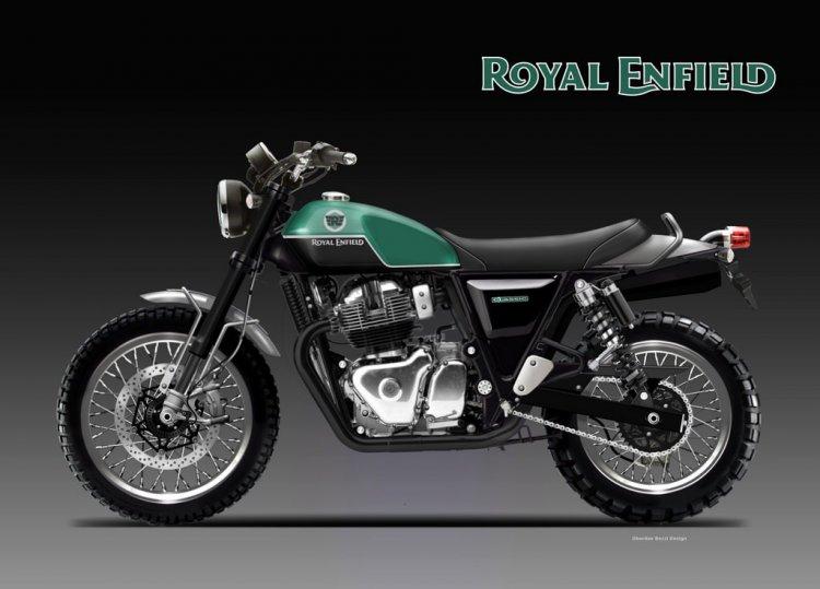 Royal Enfield Scrambler Classic Render Image Left