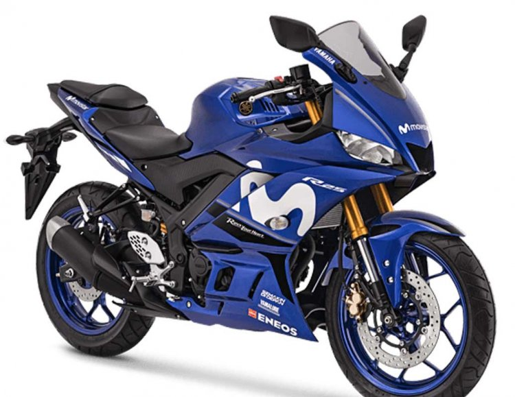 2019 Yamaha YZF-R25 Motogp Edition Right Front Quarter