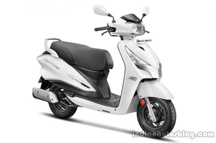 Hero Destini Launched In India Pearl Silver White