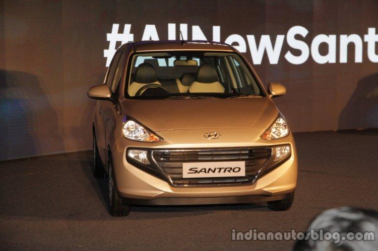 2019 Hyundai Santro Images Imperial Beige Front 1