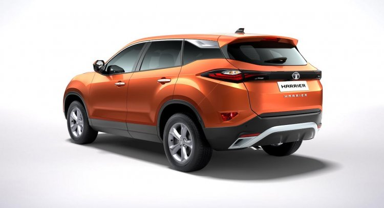 Tata Harrier Rear Three Quarters Official Image