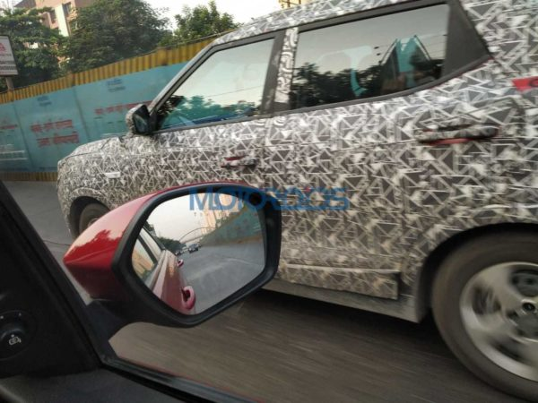 Mahindra S201 Base Variant Spy Images Side Profile