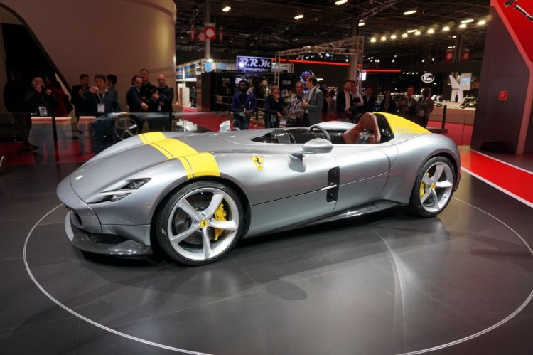 Ferrari Monza Sp1 Front Quarter At 2018 Paris Auto