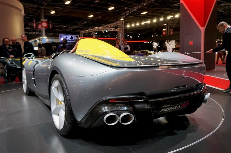 Ferrari Monza Sp1 Rear At 2018 Paris Auto Show