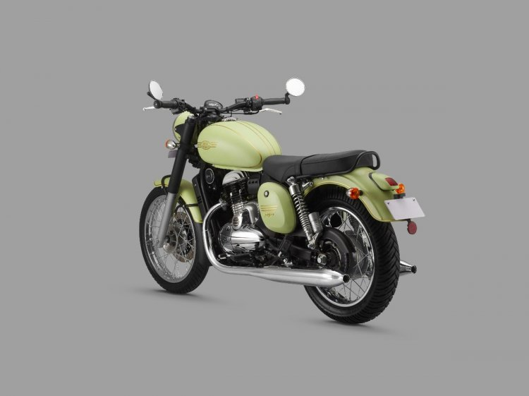 Jawa Forty Two Rear Left Quarter Press Image