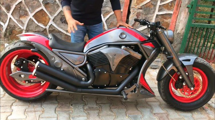 Custom Bajaj Avenger 220 Modified Into Harley Davi