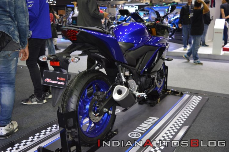 2019 Yamaha Yzf R3 At Thai Motor Show Right Rear Q