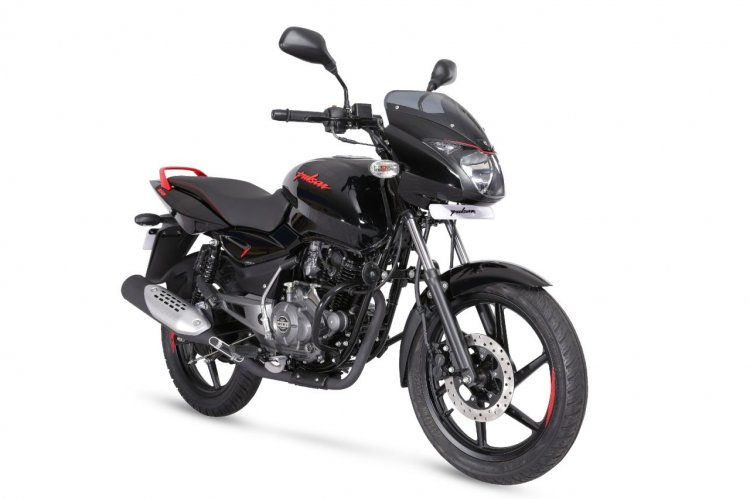Bajaj Pulsar 150 Neon Red Right Front Quarter