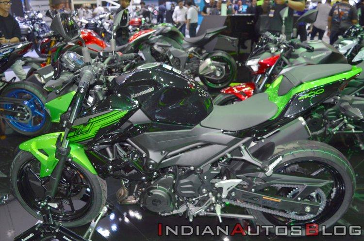 Kawasaki Z400 Green Side Profile At Thai Motor Sho