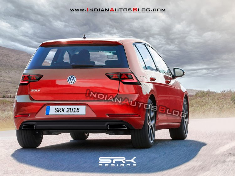 Next Gen Vw Golf Rear Three Quarters Rendering