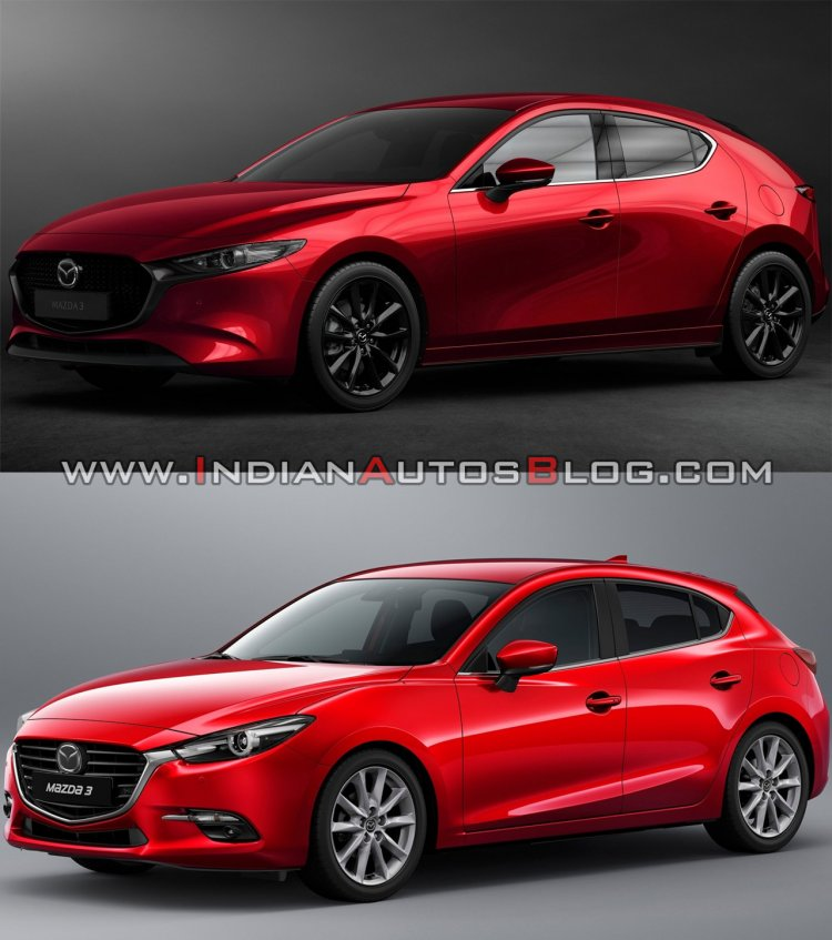 2019 Mazda3 Vs 2016 Mazda3 Front Three Quarters