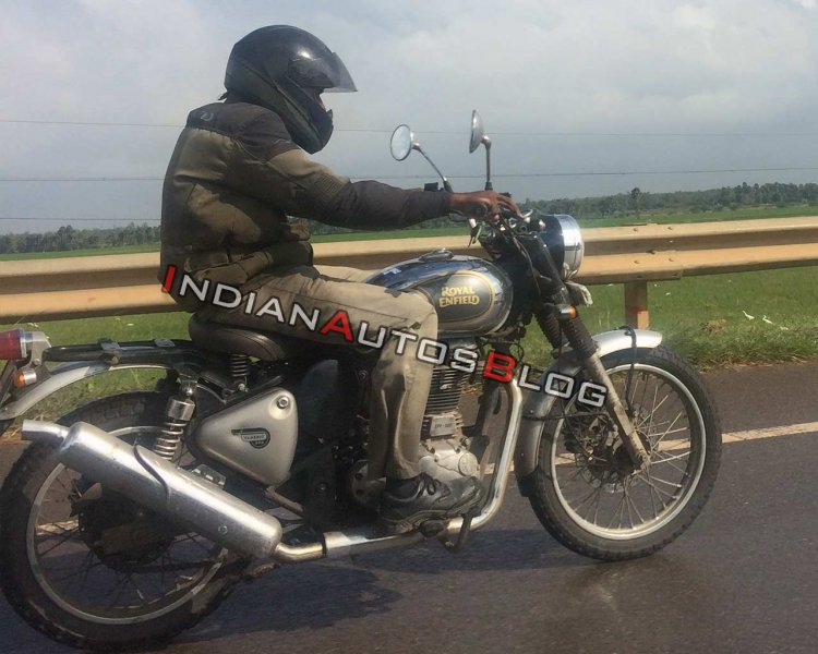 Royal Enfield Classic 500 Scrambler Spied Testing