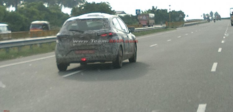 Tata 45x Rear Three Quarters Spy Shot