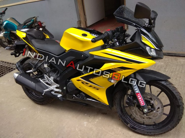 Yamaha R15 V3 0 Customised Yellow Colour Right Sid