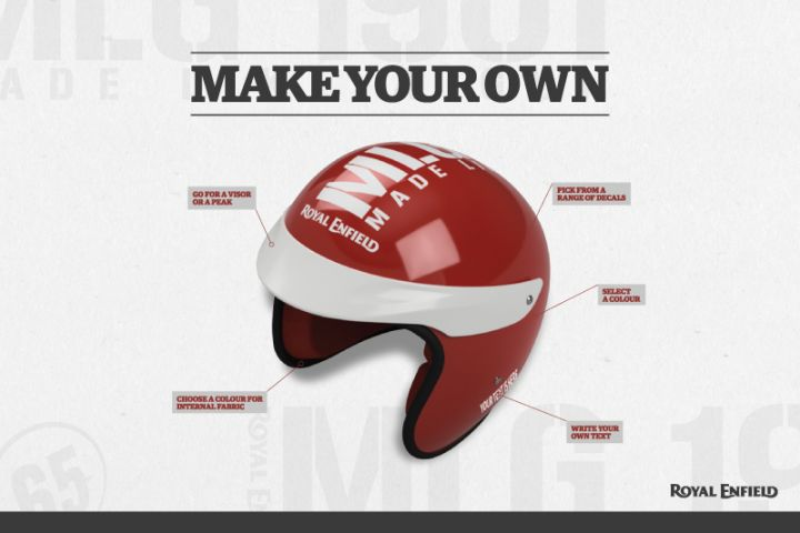 Royal Enfield Online Gear Personalisation Helmet