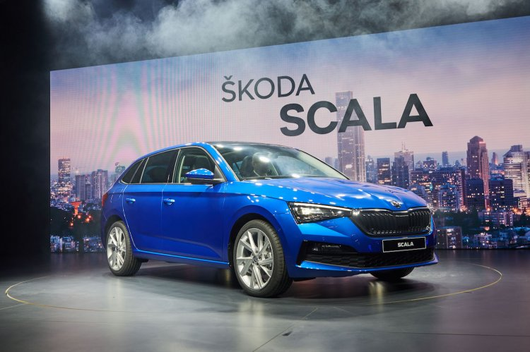 Skoda Scala Front Three Quarters Live Image
