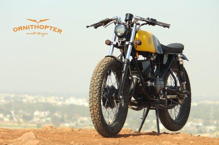 Yamaha Rx100 Scrambler Modified Front Left Quarter