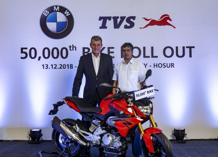 50000th Bmw 310cc Series Motorcycle Rolled Out Fro