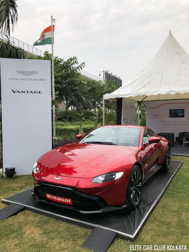 Aston Martin Vantage Showcased Mumbai India Image