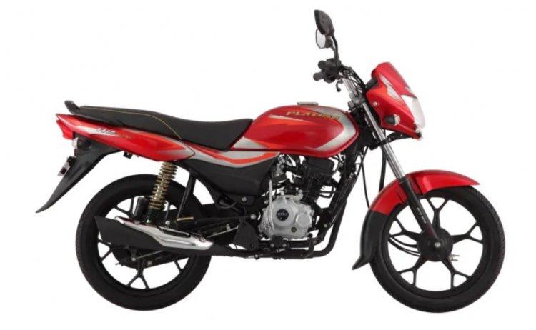 Bajaj Platina 110 Side Profile Red
