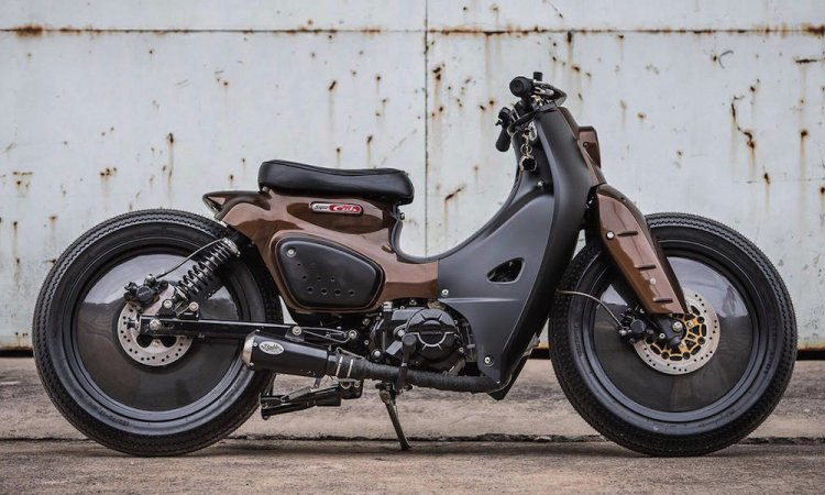 Modified Honda Super Cub 'K-Storm' By K-Speed Custom