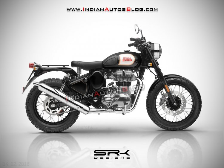Royal Enfield Classic 500 Scrambler Render With Si