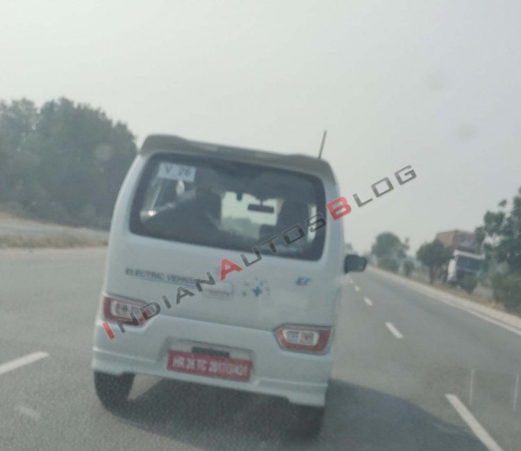 Suzuki Wagon R electric Spy Image Rear 2