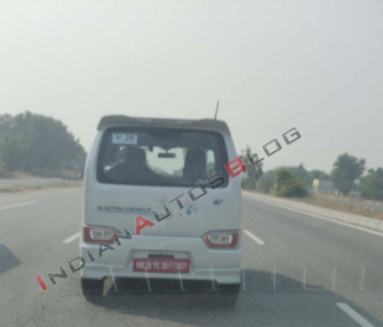 Suzuki Wagon R Ev Spy Image Rear 3