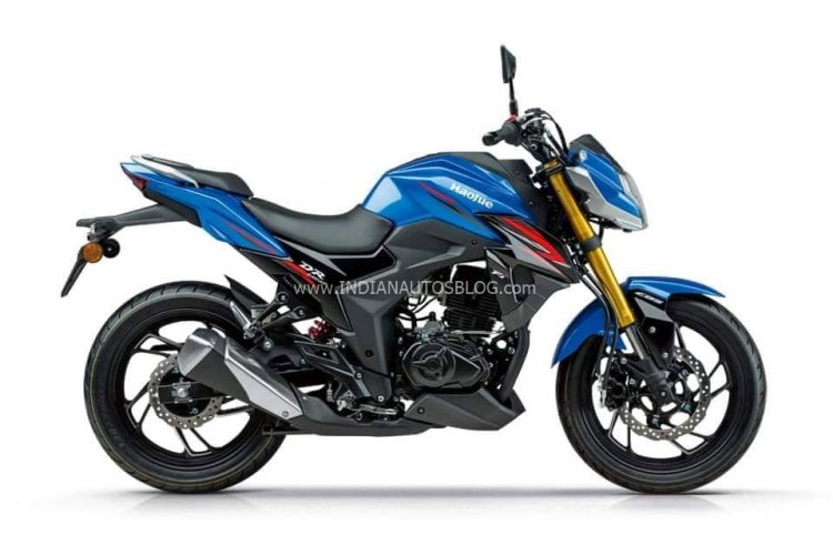 Haojue Dr300 Suzuki Gsx S300 Blue Side Profile