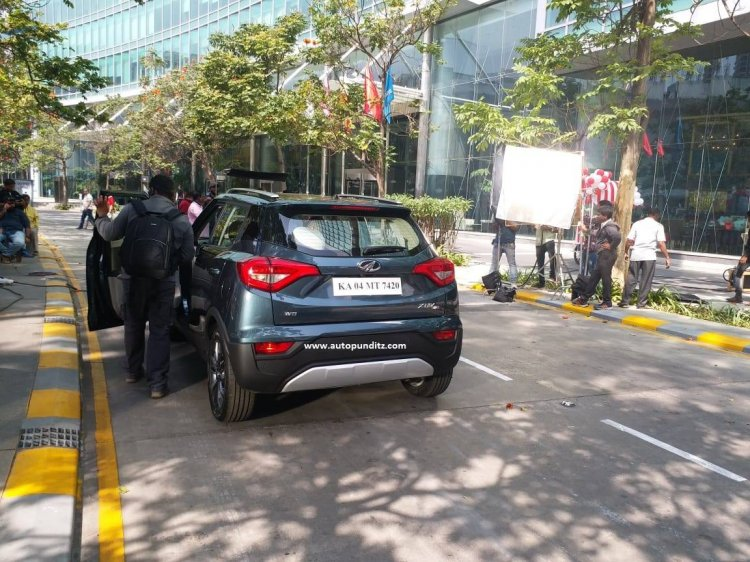 Mahindra XUV300 Rear Spotted During Ad Shoot