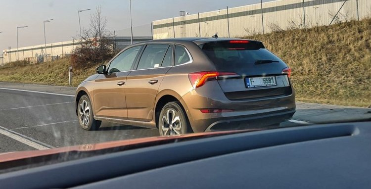 Skoda Scala Rear Three Quarters Live Image